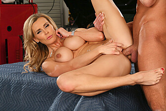 Tanya Tate fucking in the garage with her piercings - Sex Position 3
