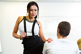 Audrey Bitoni fucking in the classroom with her big tits - Sex Position 3