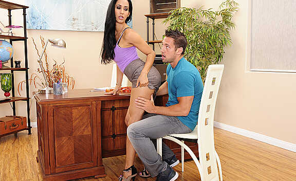 Bad girl Isis Love fucking in the desk with her big ass - Sex Position #12