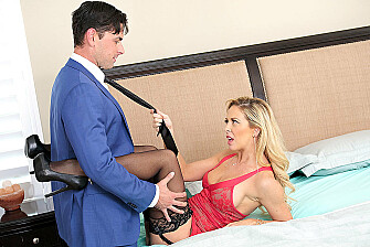 Cherie DeVille fucking in the bedroom with her lingerie - Sex Position 1