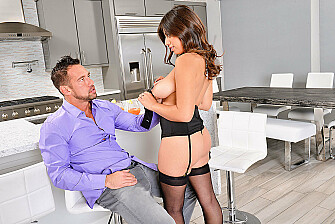 Ella Knox fucking in the chair with her lingerie - Sex Position 1