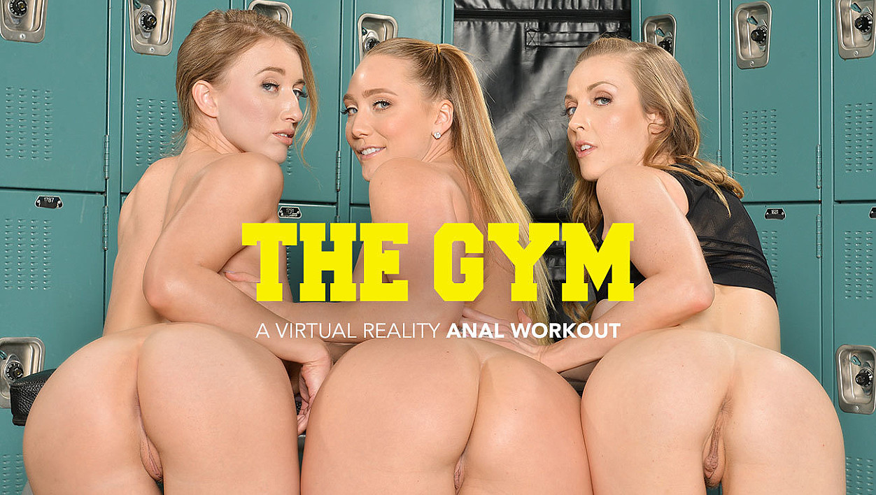 AJ Applegate, Karla Kush, and Riley Reyes takes their trainers cock in their ass