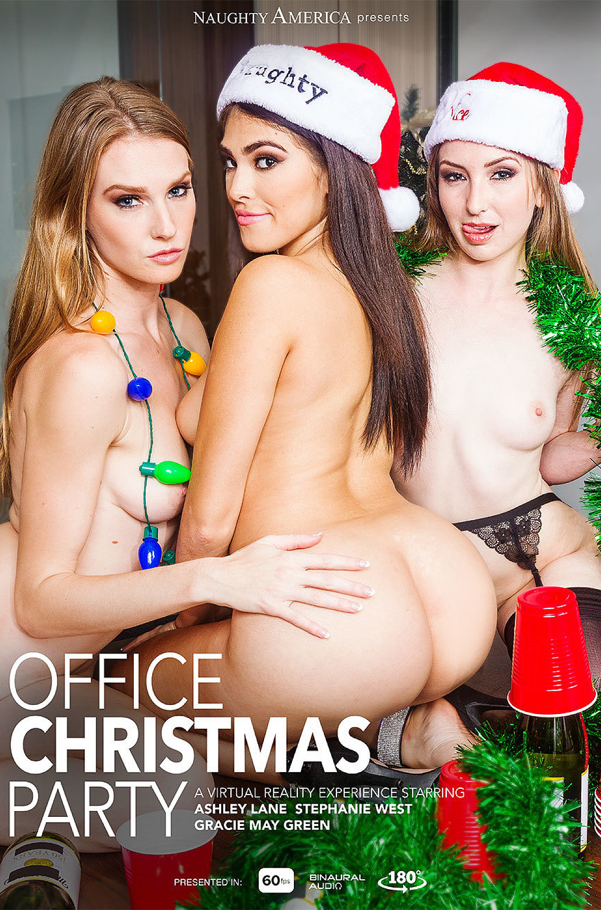 Watch Ashley Lane, Gracie Green, Stephanie West and Ryan Driller VR video in Naughty America