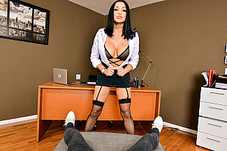 Audrey Bitoni fucking in the office with her tits vr porn - Sex Position 2