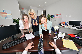 Bridgette B., Karma Rx, and Krissy Lynn fuck the intern - Sex Position 1