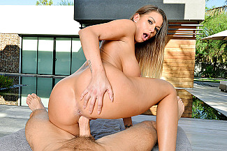Brooklyn Chase shows of her big tits in VR - Sex Position 4