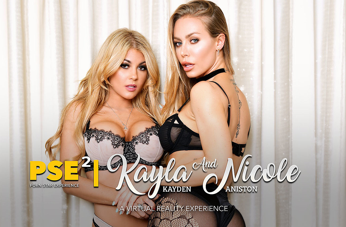 Watch Kayla Kayden, Nicole Aniston and Ryan Driller VR video in Naughty America