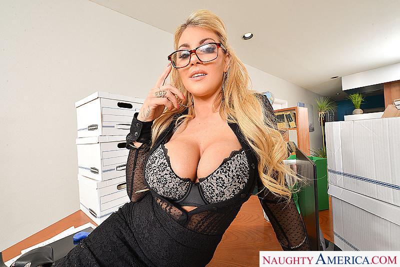 Naughty office big tits