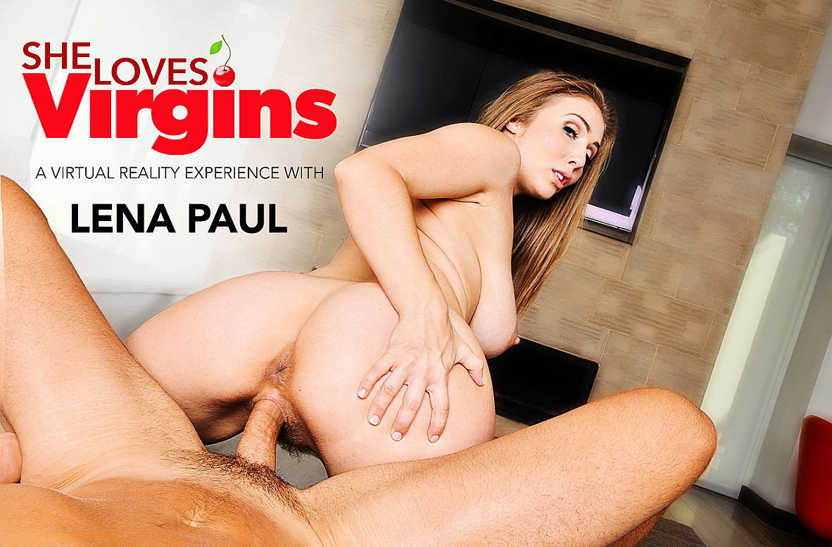 Watch Lena Paul and Ryan Driller VR American video in Naughty America
