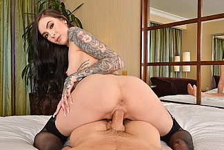 Marley Brinx Fucks you in her hotel room in VR  - Sex Position 2