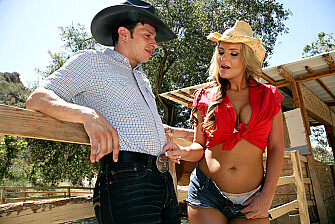 Phoenix Marie fucking in the ranch with her tattoos - Sex Position 1