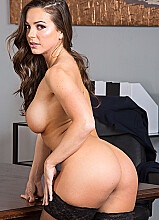Abigail Mac fucking in the office with her outie pussy