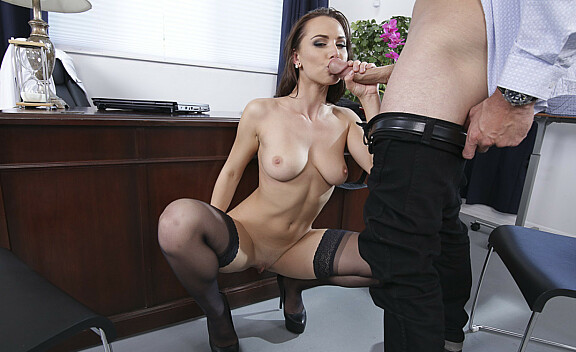 Bad girl Aidra Fox fucking in the desk with her bubble butt - Sex Position #7