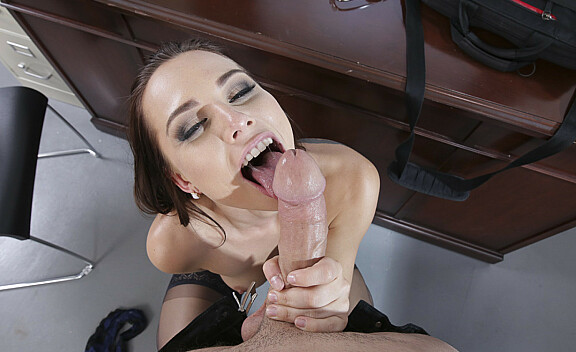 Bad girl Aidra Fox fucking in the desk with her bubble butt - Sex Position #8