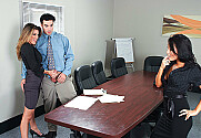 Asa Akira & Kayla Paige & Charles Dera in Naughty Office