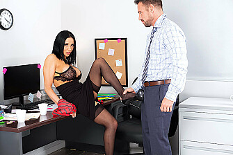 Audrey Bitoni needs to fuck her big dick colleague to cum - Sex Position 2