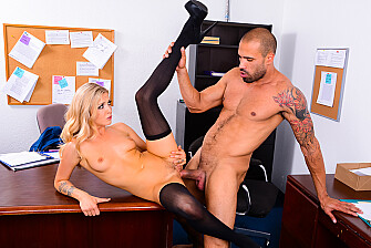 Karla Kush fucking in the desk with her tattoos - Sex Position 3