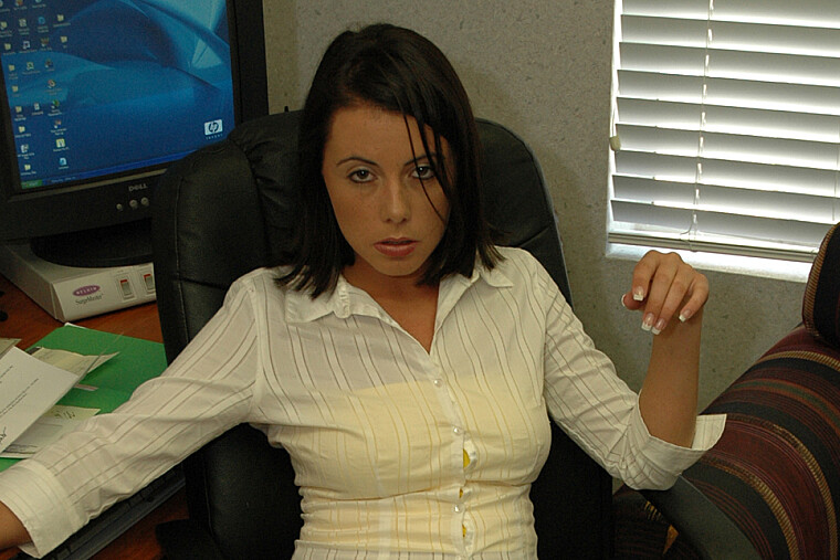 Penny Flame fucking in the office with her big tits
