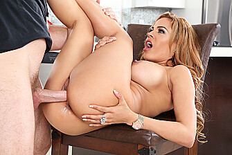 Rich girl Luna Star fucking in the kitchen with her tits - Sex Position 3