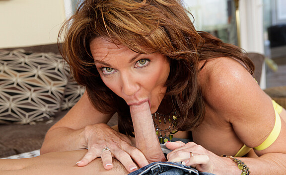 Cougar Deauxma fucking in the couch with her big tits - Sex Position #4