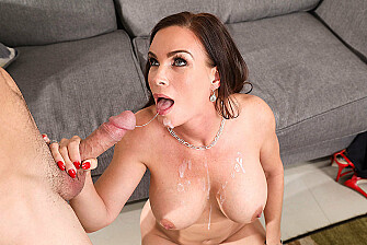 Diamond Foxxx fucking in the couch with her blue eyes - Sex Position 3