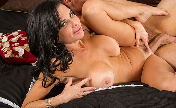 Veronica Avluv fucking in the bed with her big tits - Sex Position #10