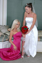 Nikki Benz starring in Brideporn videos with Big Tits and Blonde