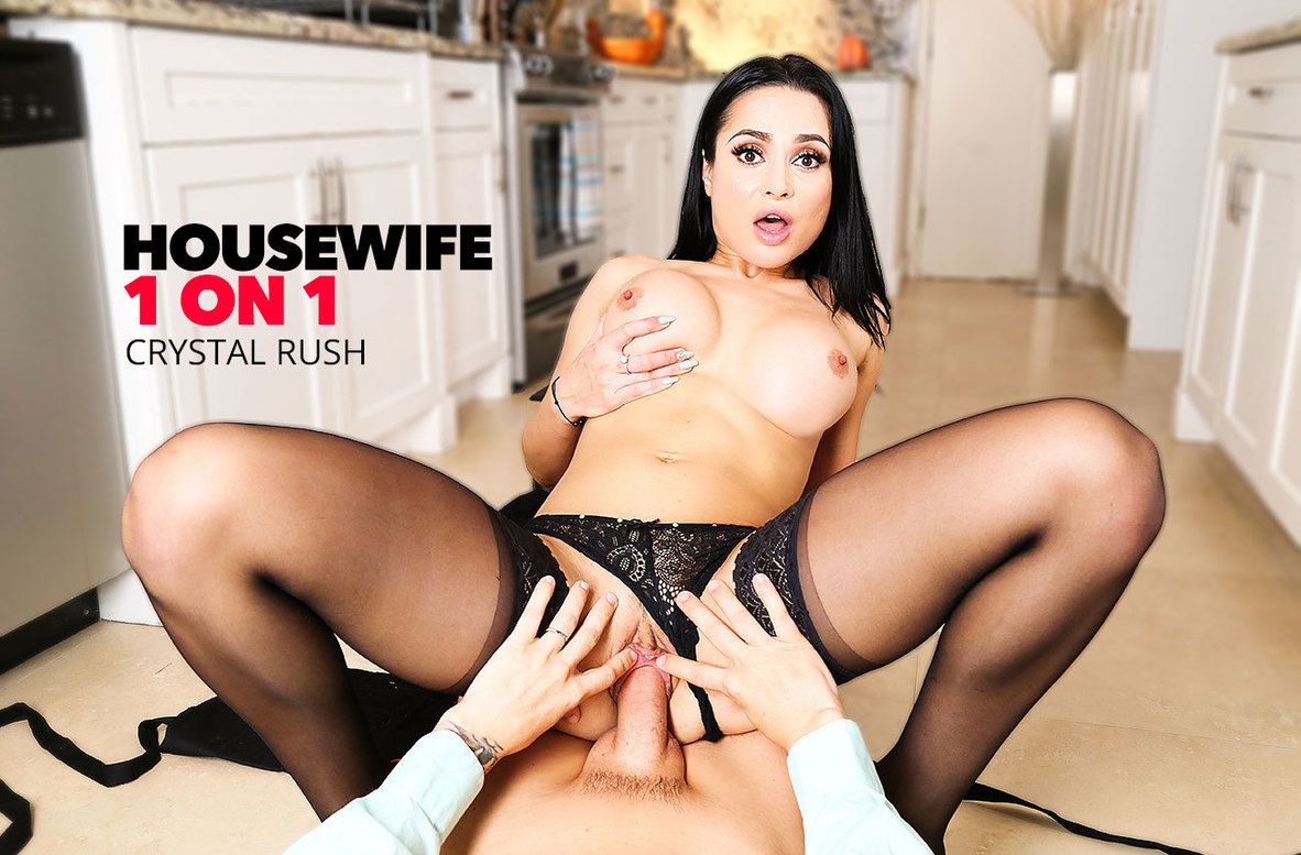 Watch Crystal Rush and Tyler Steel 4K video in Housewife 1 on 1