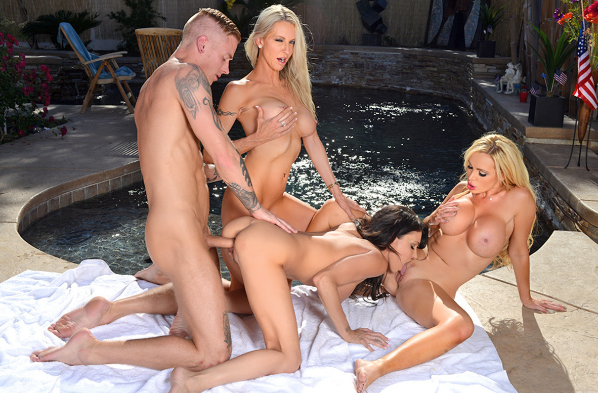 Watch Emma Starr, Jessica Jaymes, Nikki Benz and Richie Black 4K video in I Have a Wife
