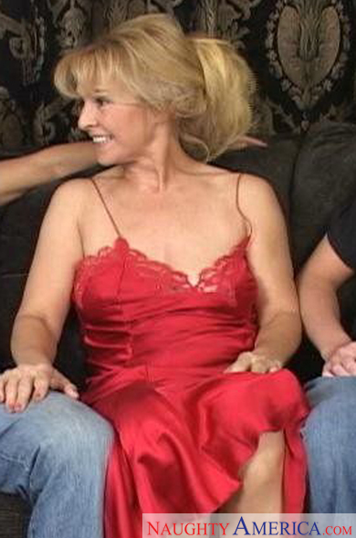 Red friends dress mom hot