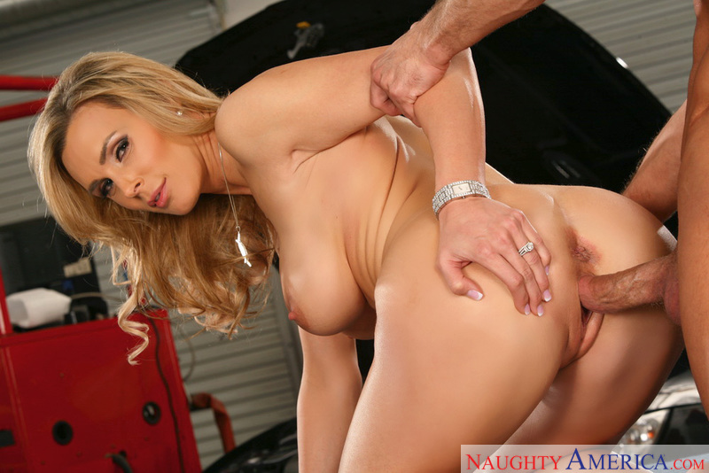 Tanya Tate fucking in the garage with her piercings - Sex Position 2