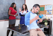 Ariella Ferrera & Diamond Jackson & Bambino in My First Sex Teacher