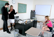 Bridgette Monroe & Scarlett Pain & Otto Bauer in My First Sex Teacher
