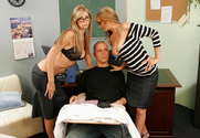 Brooke Brand & Julia Ann & Justice Young in My First Sex Teacher