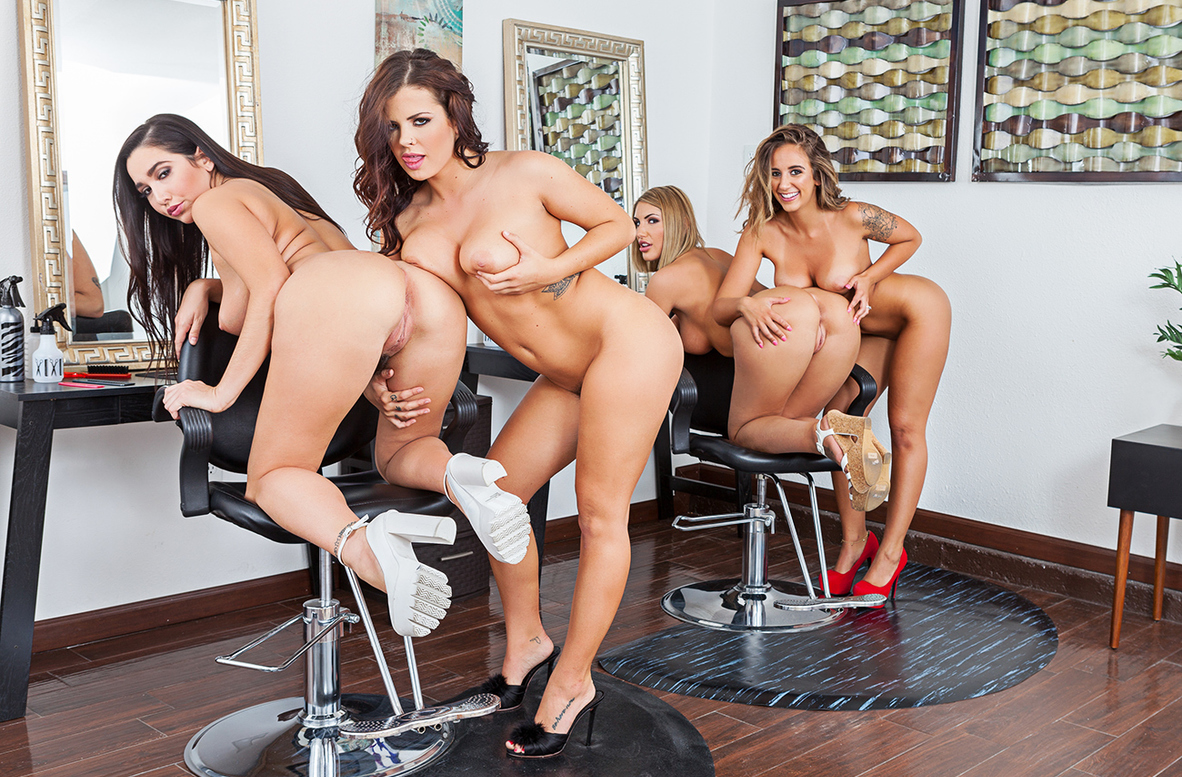 Watch August Ames, Karlee Grey, Keisha Grey, Layla London and Preston Parker VR video in Naughty America
