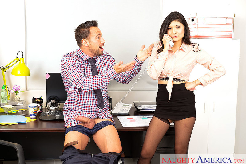 Brenna Sparks tries lowering her voice by deepthroating dick - Sex Position 1