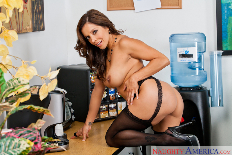 Francesca Le fucking in the break room with her tits - Sex Position 2