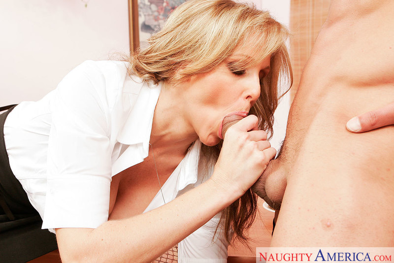 Julia Ann gets dirty with the janitor at work - Sex Position 1