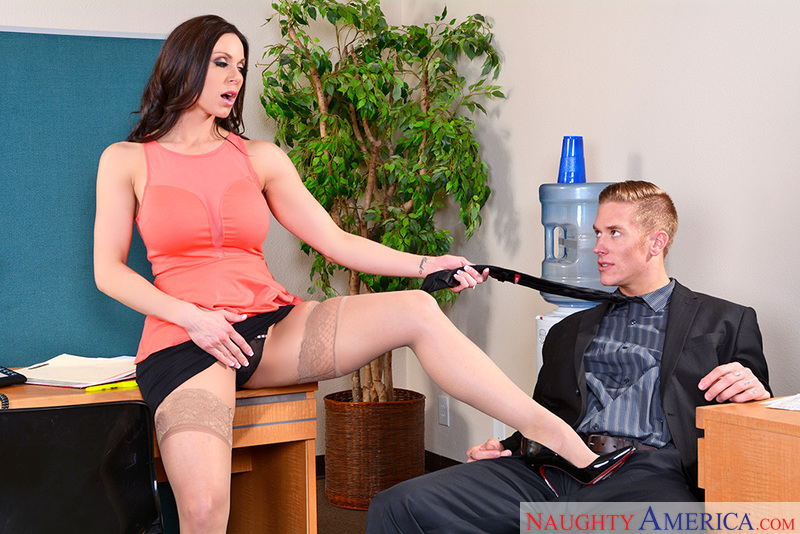 Mature Kendra Lust fucking in the desk with her big tits - Sex Position 2