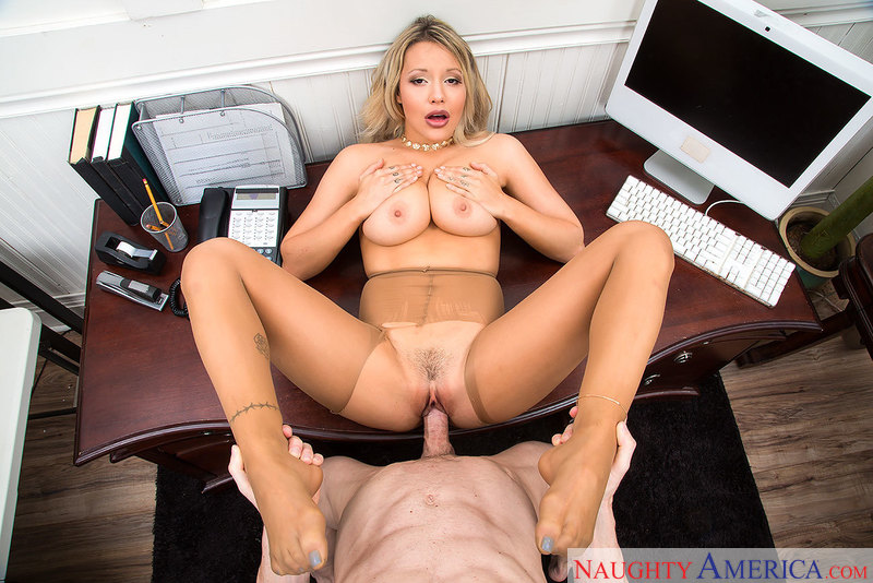 Office Intern Kylie Page and Her Big Tits Break the Rules - Sex Position 3