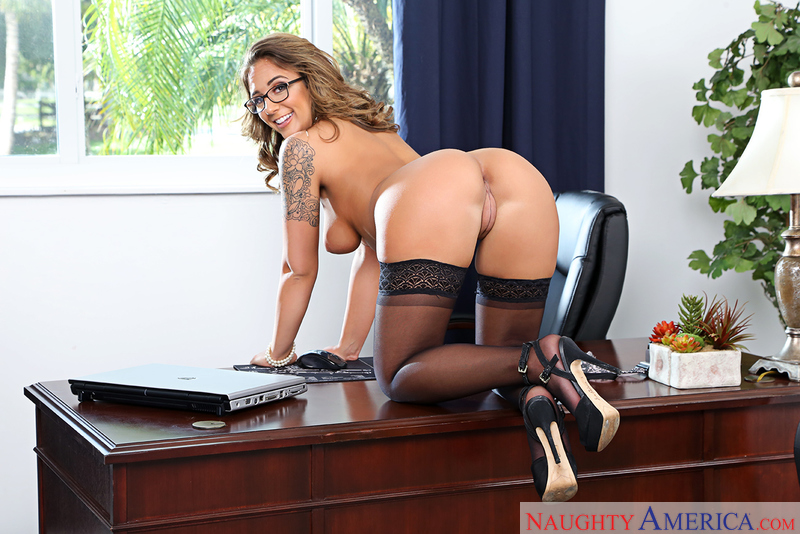 Layla London Fucking In The Chair With Her Natural Tits Sex Position 1