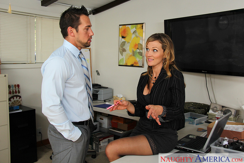 Co-worker Nikki Sexx fucking in the office with her tits - Sex Position 1
