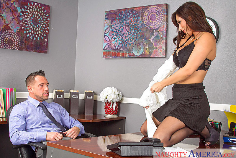 Reena Sky fucking in the office with her tits - Sex Position 1