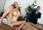 Samantha Saint fucking in the office with her piercings - Sex Position 1