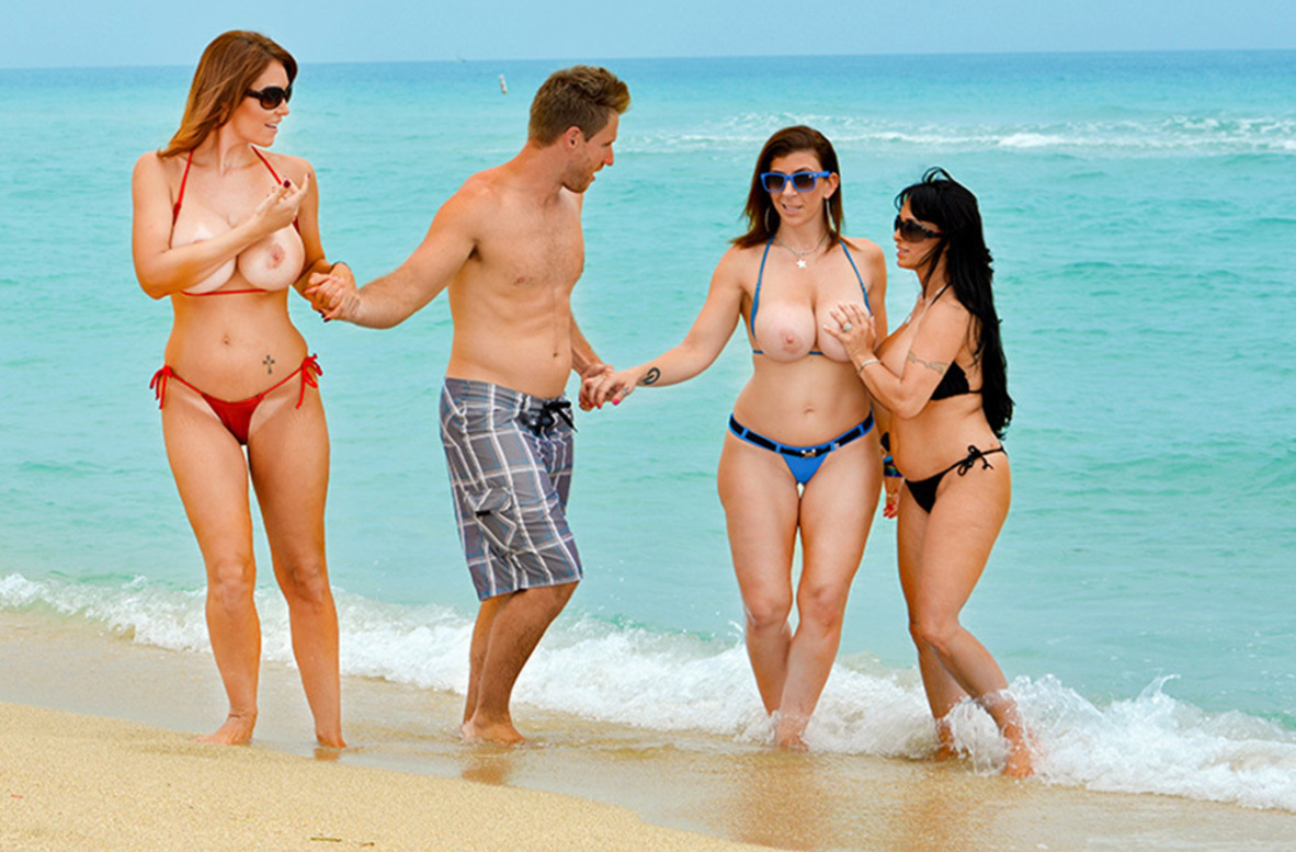Watch Charlee Chase, Holly Halston, Sara Jay and Levi Cash video in Seduced By A Cougar